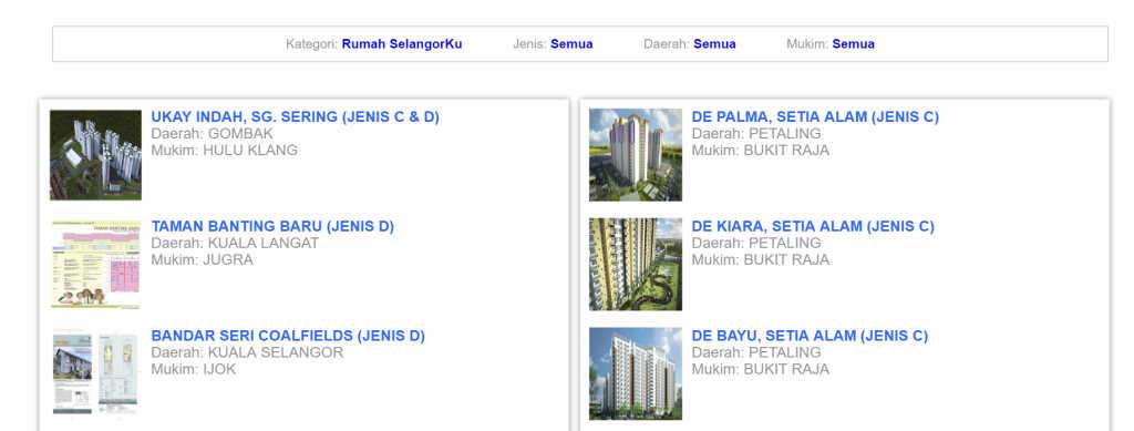 Rumah Selangorku Jenis C