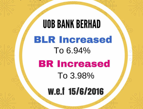 UOB INCREASED BASE RATE & BASE LENDING RATE