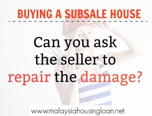 Buying A Subsale House: Can you ask the seller to repair the damage?
