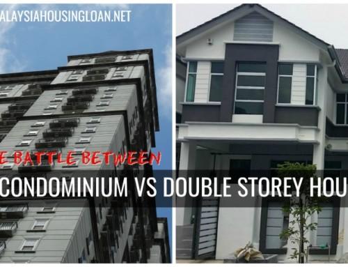 The battle between  CONDOMINIUM VS DOUBLE STOREY HOUSE